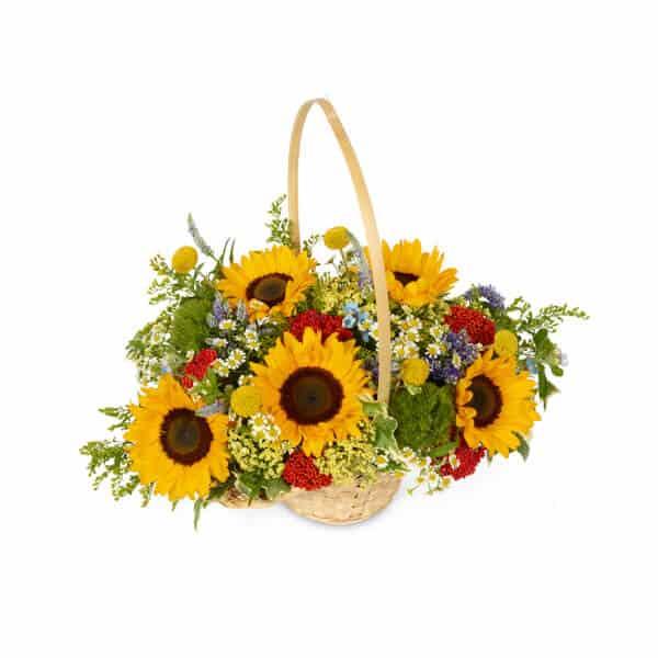 סלסלת פרחים