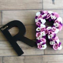 אותיות פרחים