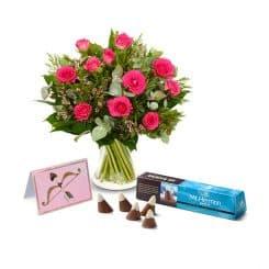 מבצע זר פרחים ושוקולד