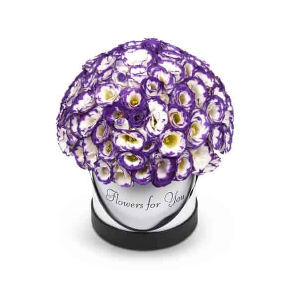 קופסת פרחים סגולה